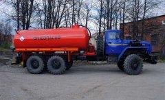 Вакуумная автоцистерна АКН-8(10) Урал 4320