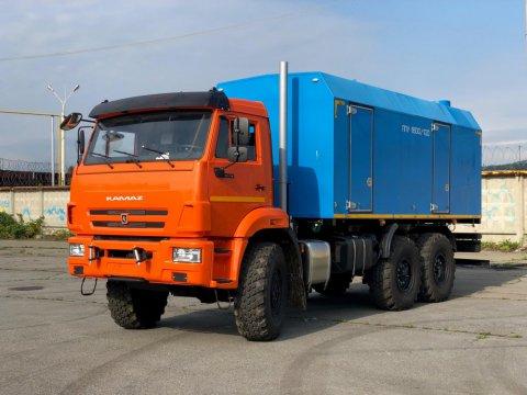 Передвижная парогенераторная установка ППУА-1600/100 на автомобильном шасси КамАЗ 43118