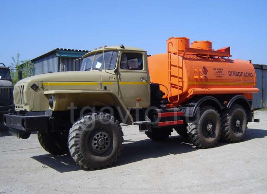 Бензовоз АЦ-7,5 Урал 4320 для светлых ГСМ купить от производителя