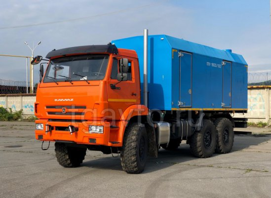 Передвижная паровая установка ППУА-1600/100 на шасси КамАЗ 43118 купить от производителя