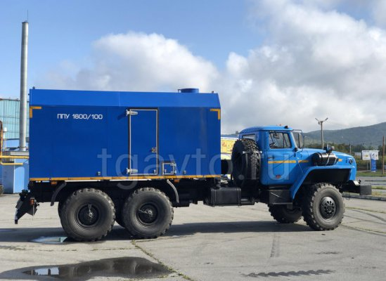 Передвижная паровая установка ППУА-1600/100 на шасси Урал 5557 купить от производителя